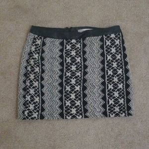 Forever 21 Lace Pleather Trim Mini Skirt- Size S